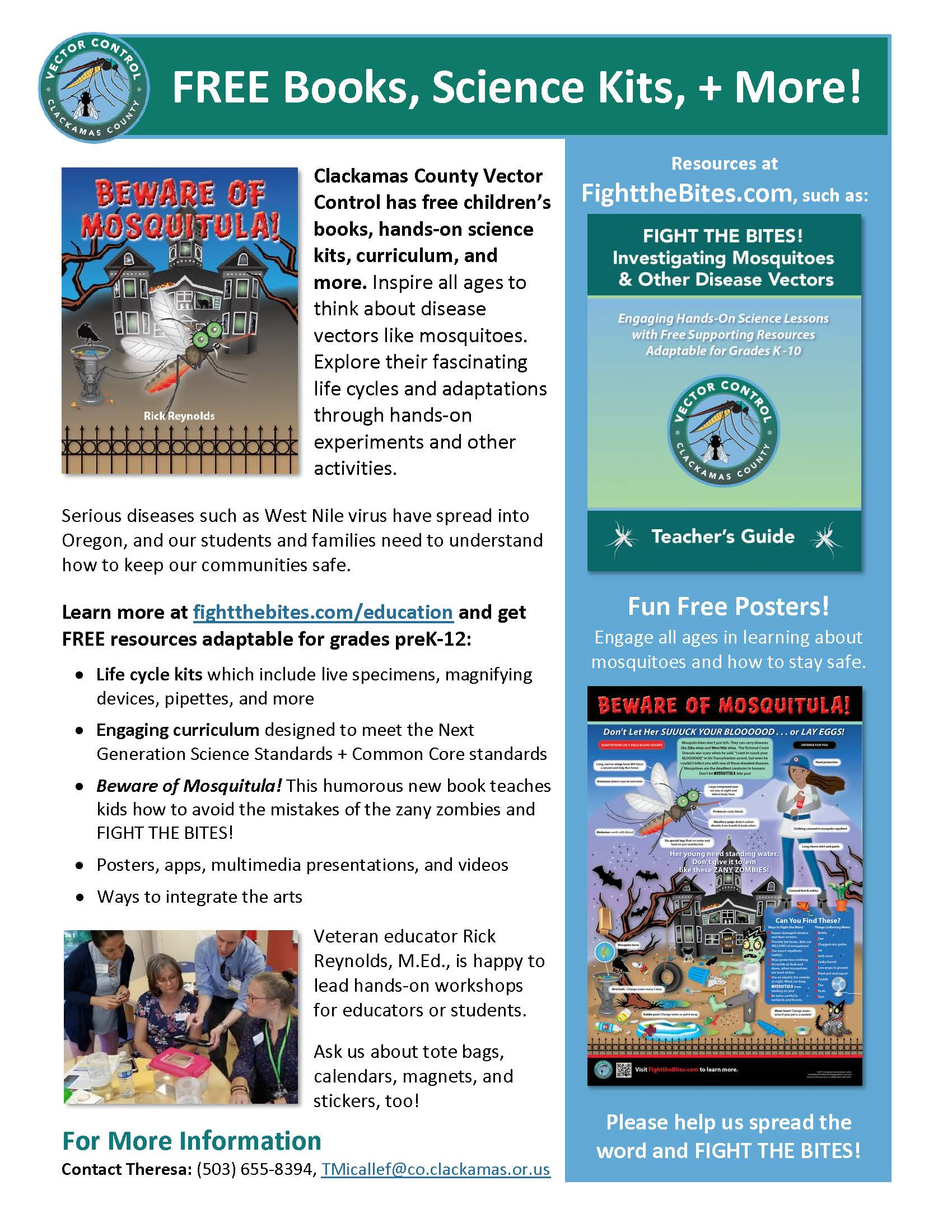 FREE Books, Science Kits, + More! flyer cover